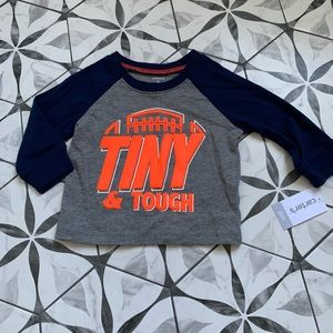 CARTERS | NWT 🏈 Football Tee Tiny & Tough sz 6mo